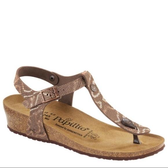 4ac14afebd3 Papillio Birkenstock Ashley T-Strap Wedge Sandals